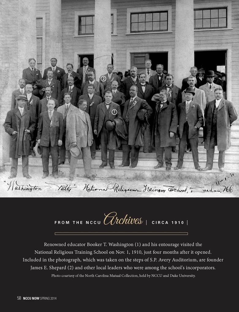 NCCU Leaders picture from 1910