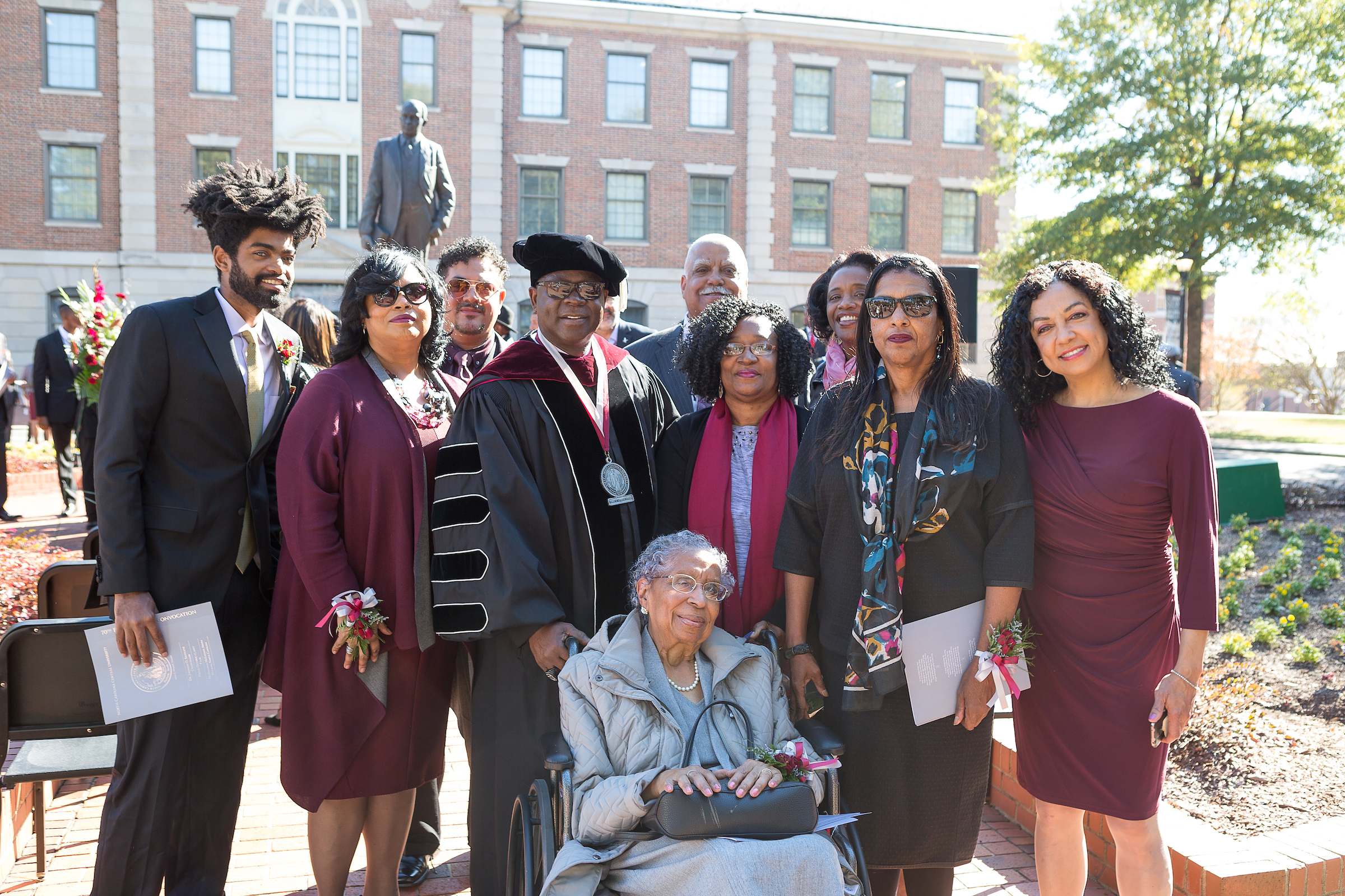 Chancellor and other leaders with Carolyn Smith Green