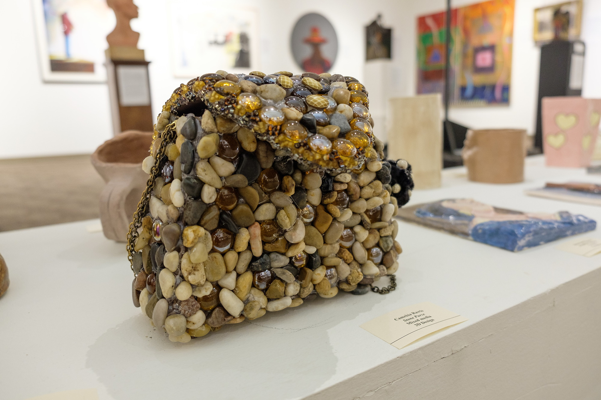 Artistic purse created with stone