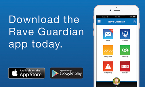 Download the Rave Guardian app today