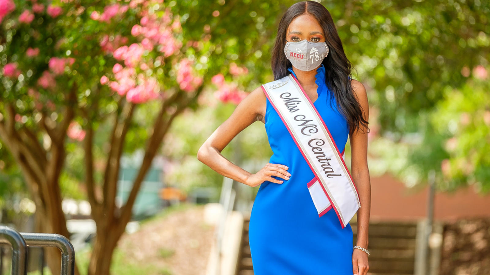 2020 Miss NCCU posing on campus