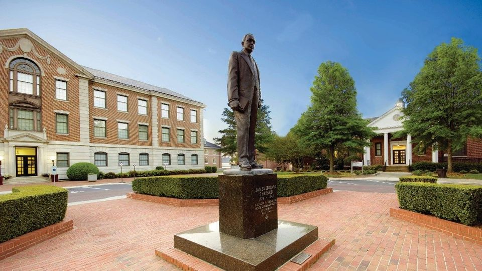 James E. Shepard statue on the campus of NCCU