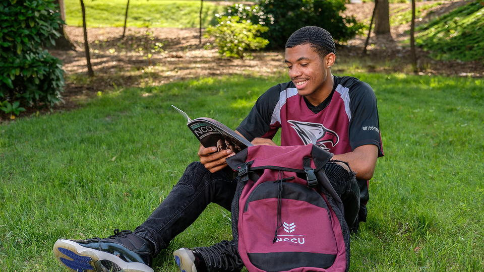 NCCU Student on campus